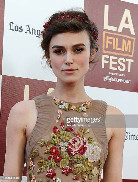 Actress Keira Knightley arrives at the premiere of 'Seeking a Friend for the End of the World' at the 2012 Los Angeles Film Festival held at Regal...