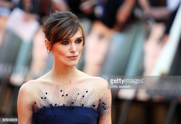 Actress Keira Knightley arrives at the World Premiere for The Duchess at Odeon Leicester Square on September 3, 2008 in London, England.