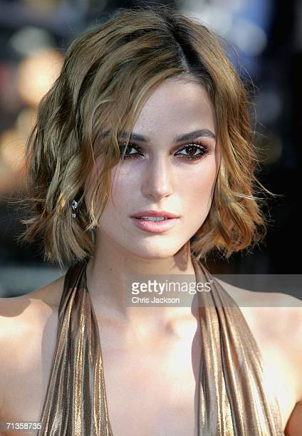Actress Keira Knightley arrives for the European Premiere of 'Pirates Of The Caribbean Dead Man's Chest' at the Odeon Leicester Square on July 3 2006...