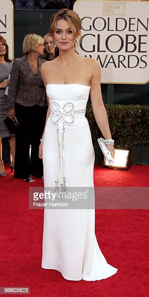 Actress Keira Knightley arrives to the 63rd Annual Golden Globe Awards at the Beverly Hilton on January 16 2006 in Beverly Hills California
