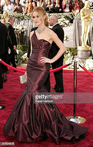 Actress Keira Knightley arrives to the 78th Annual Academy Awards at the Kodak Theatre on March 5 2006 in Hollywood California