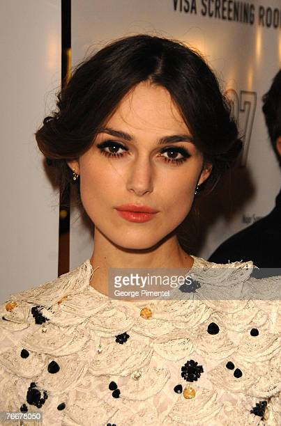 Actress Keira Knightley at The 32nd Annual Toronto International Film Festival Silk Premiere at Elgin Theatre on September 11 2007 in Toronto Canada