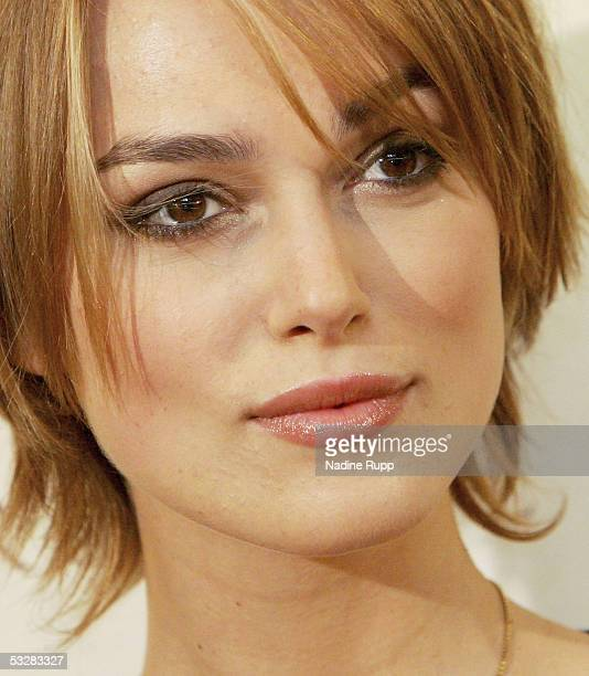 Actress Keira Knightley attends a photocall to promote her latest movie Pride Prejudice on July 25 2005 in Hamburg Germany