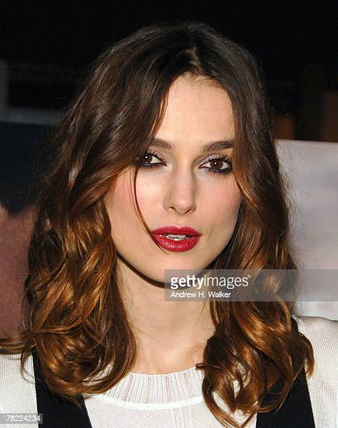 Actress Keira Knightley attends a screening of the film 'Atonement' hosted by The Cinema Society CHANEL BEAUTE at the IFC Center December 3 2007 in...
