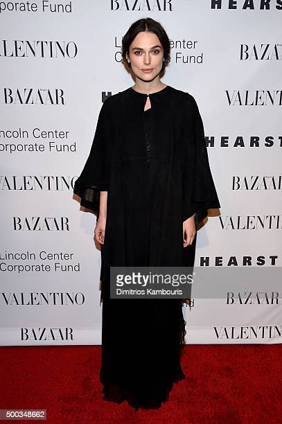 Actress Keira Knightley attends an evening honoring Valentino at Lincoln Center Corporate Fund Black Tie Gala on December 7 2015 in New York City