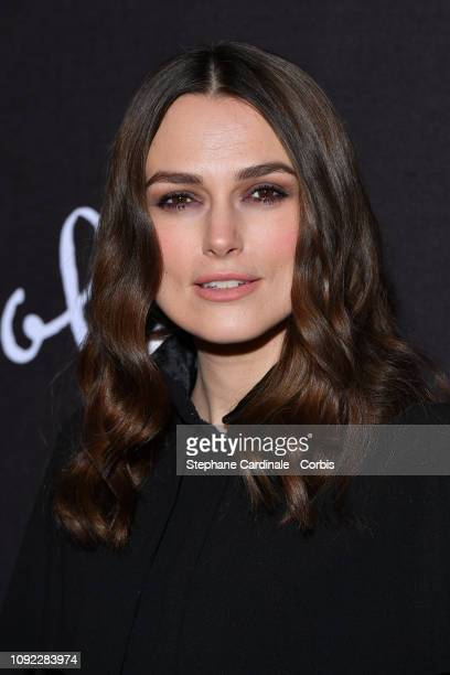 """Actress Keira Knightley attends """"Colette"""" Paris Premiere at Cinema Gaumont Marignan on January 10, 2019 in Paris, France."""