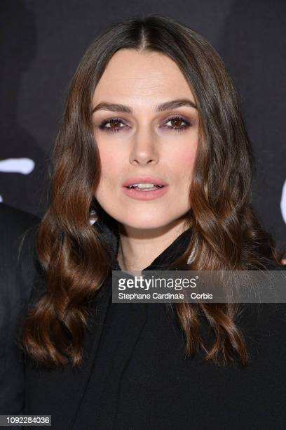 Actress Keira Knightley attends Colette Paris Premiere at Cinema Gaumont Marignan on January 10 2019 in Paris France