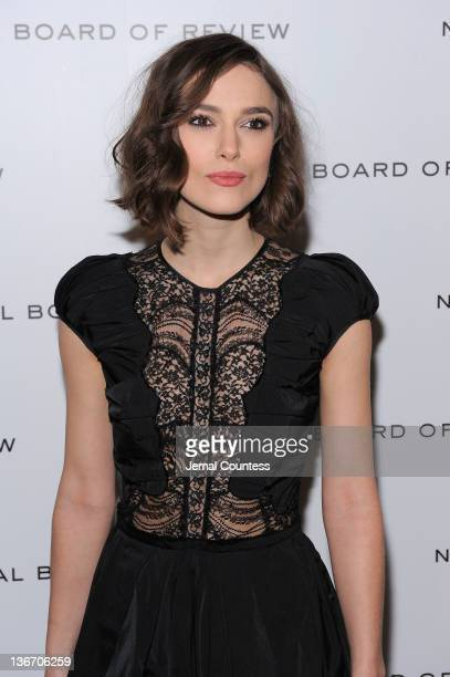 Actress Keira Knightley attends the 2011 National Board of Review Awards gala at Cipriani 42nd Street on January 10, 2012 in New York City.