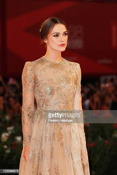 """Actress Keira Knightley attends the """"A Dangerous Method"""" premiere during the 68th Venice Film Festivalat Palazzo del Cinema on September 2, 2011 in..."""
