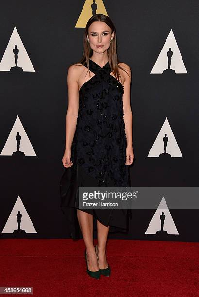 Actress Keira Knightley attends the Academy Of Motion Picture Arts And Sciences' 2014 Governors Awards at The Ray Dolby Ballroom at Hollywood...