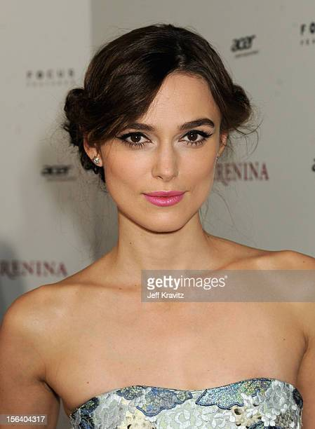 "Actress Keira Knightley attends the ""Anna Karenina"" Los Angeles Premiere held at ArcLight Hollywood on November 14, 2012 in Hollywood, California."