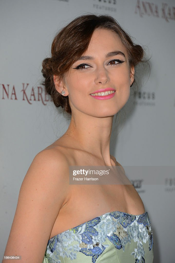 Actress Keira Knightley attends the 'Anna Karenina' Los Angeles Premiere held at ArcLight Hollywood on November 14, 2012 in Hollywood, California.