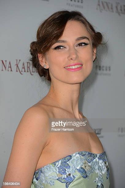 Actress Keira Knightley attends the Anna Karenina Los Angeles Premiere held at ArcLight Hollywood on November 14 2012 in Hollywood California