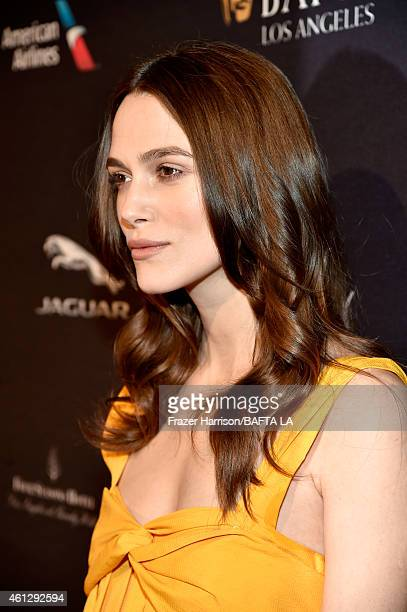 Actress Keira Knightley attends the BAFTA Los Angeles Tea Party at The Four Seasons Hotel Los Angeles At Beverly Hills on January 10, 2015 in Beverly...