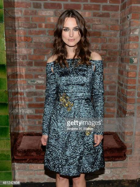 Actress Keira Knightley attends the 'Begin Again' New York premiere after party at The Bowery Hotel on June 25 2014 in New York City