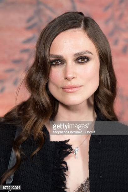 Actress Keira Knightley attends the Chanel Cruise 2017/2018 Collection Photocall at Grand Palais on May 3 2017 in Paris France