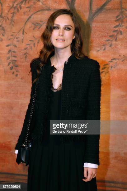 Actress Keira Knightley attends the Chanel Cruise 2017/2018 Collection Show at Grand Palais on May 3 2017 in Paris France