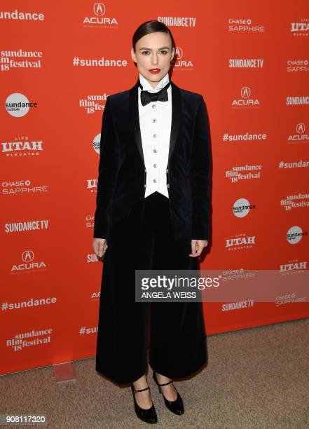 Actress Keira Knightley attends the 'Colette' Premiere during the 2018 Sundance Film Festival at Eccles Theater on January 20 2018 in Park City Utah...