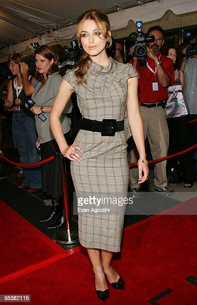 Actress Keira Knightley attends the gala premiere of Pride Prejudice at Roy Thomson Hall during the Toronto International Film Festival on September...