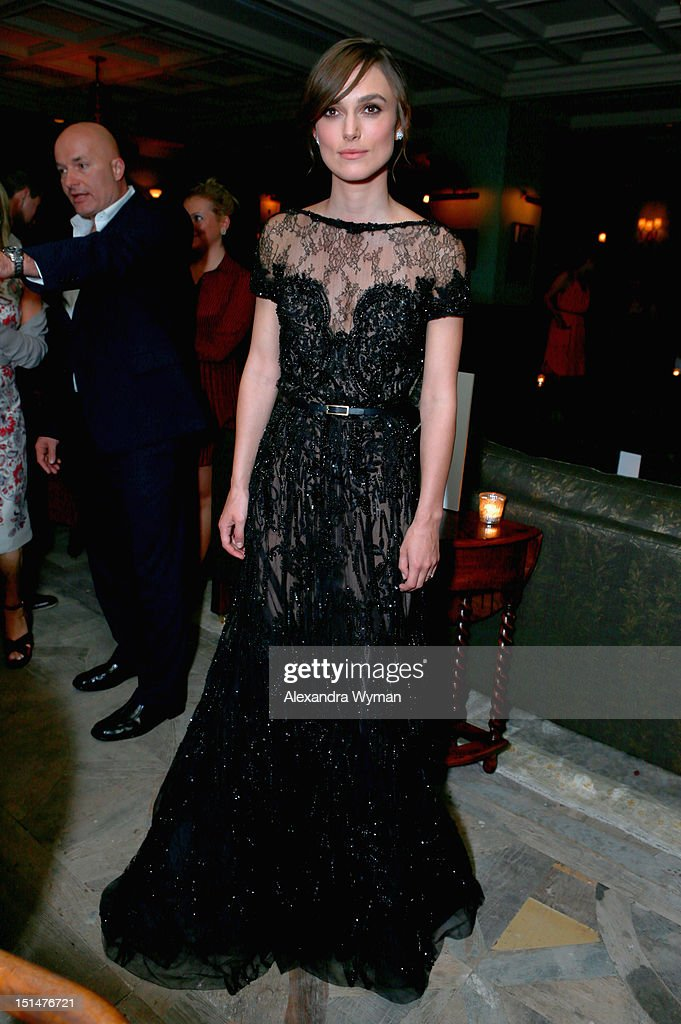 Actress Keira Knightley attends the Grey Goose Vodka and Forevermark Diamonds party for 'Anna Karenina' at Soho House Toronto on September 7, 2012 in Toronto, Canada.
