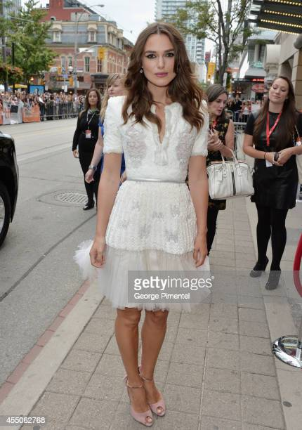 Actress Keira Knightley attends The Imitation Game premiere during the 2014 Toronto International Film Festival at Princess of Wales Theatre on...