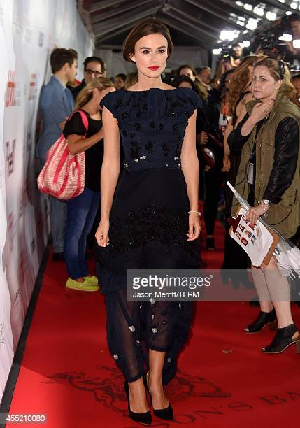 Actress Keira Knightley attends the Laggies premiere during the 2014 Toronto International Film Festival at Roy Thomson Hall on September 10 2014 in...