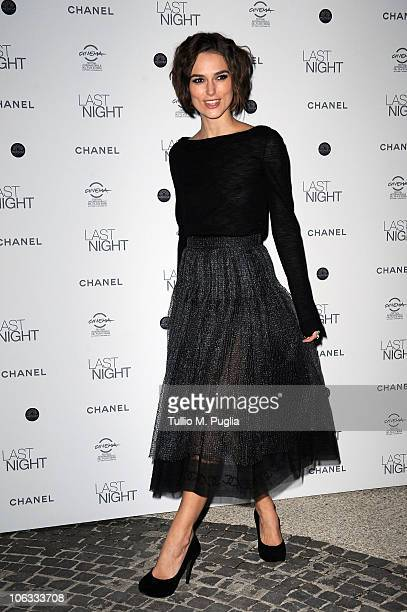 Actress Keira Knightley attends the Last Night dinner party during The 5th International Rome Film Festival at Casina Valadier on October 28 2010 in...
