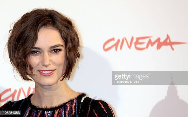 """Actress Keira Knightley attends the """"Last Night"""" photocall during The 5th International Rome Film Festival at Auditorium Parco Della Musica on..."""