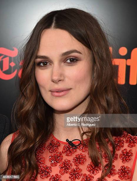 Actress Keira Knightley attends The New York Times' TimesTalk TIFF In Los Angeles Presents 'The Immitation Game' at The Paley Center for Media on...