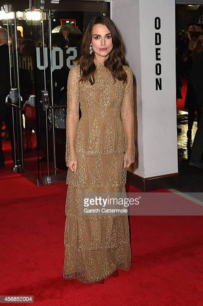 Actress Keira Knightley attends the opening night gala screening of The Imitation Game during the 58th BFI London Film Festival at Odeon Leicester...