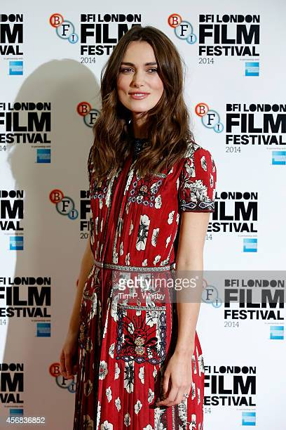 Actress Keira Knightley attends the photocall for The Imitation Game during the 58th BFI London Film Festival at Corinthia Hotel London on October 8...
