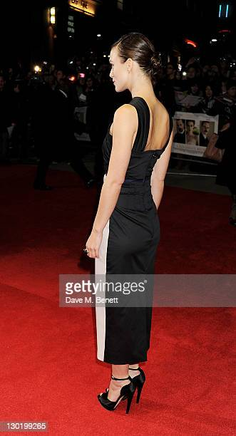Actress Keira Knightley attends the Premiere of 'A Dangerous Method' during the 55th BFI London Film Festival at Odeon West End on October 24 2011 in...