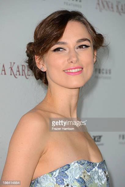 Actress Keira Knightley attends the premiere of Focus Features' 'Anna Karenina' held at ArcLight Cinemas on November 14 2012 in Hollywood California