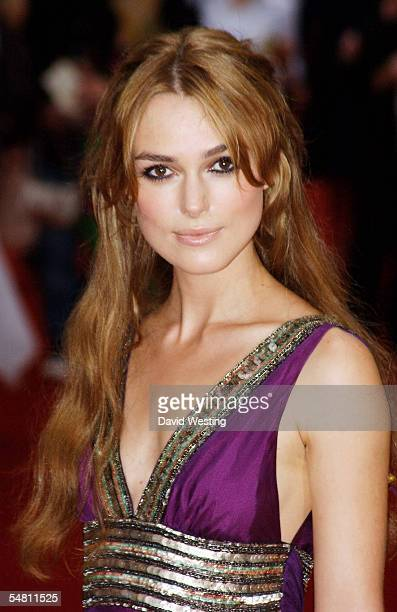 Actress Keira Knightley attends the premiere of Pride Prejudice at the Odeon Cinema in Leicester Square September 5 2005 in London