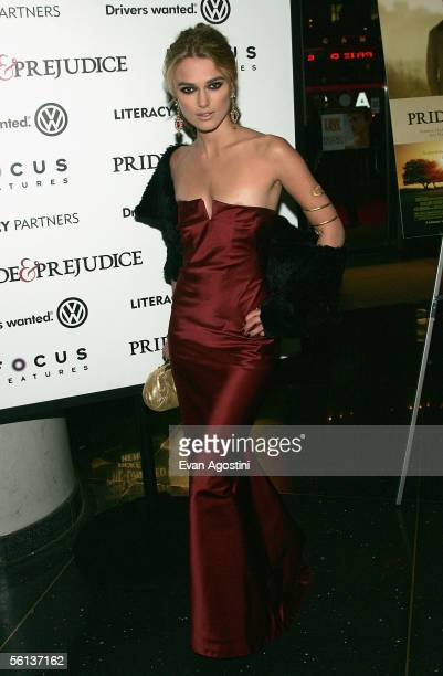 Actress Keira Knightley attends the premiere of Pride Prejudice at Loews Lincoln Square November 10 2005 in New York City