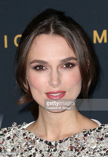 Actress Keira Knightley attends the screening of The Weinstein Company's The Imitation Game hosted by Chanel at the Director Guild of America Theater...