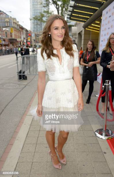 Actress Keira Knightley attends the The Imitation Game premiere during the 2014 Toronto International Film Festival at Princess of Wales Theatre on...