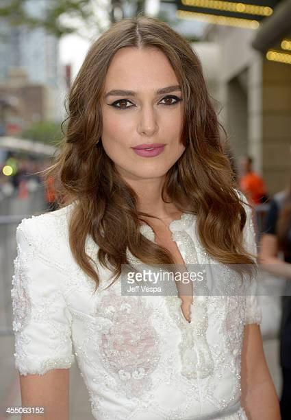 Actress Keira Knightley attends the 'The Imitation Game' premiere during the 2014 Toronto International Film Festival at Princess of Wales Theatre on...