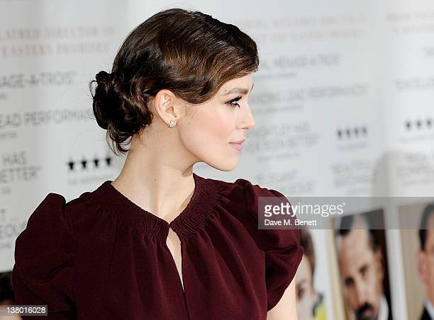 Actress Keira Knightley attends the UK Gala Premiere of 'A Dangerous Method' at The Mayfair Hotel on January 31 2012 in London England