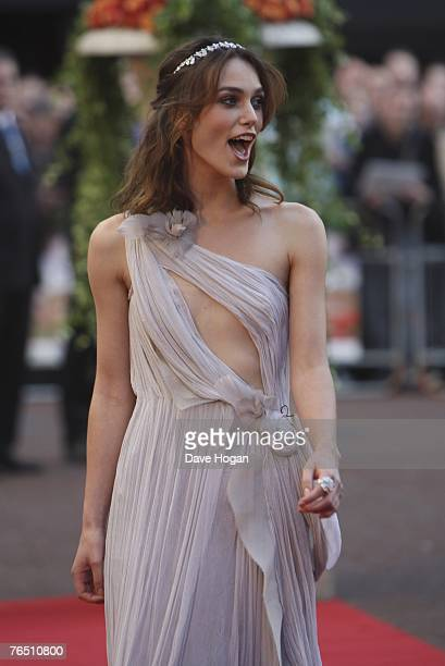 Actress Keira Knightley attends the UK Premiere of Atonement at The Odeon Leicester Square September 4 2007 in London England