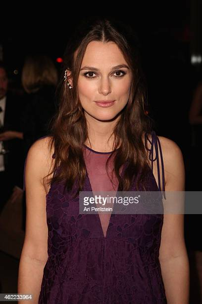 Actress Keira Knightley attends The Weinstein Company Netflix's 2015 SAG After Party In Partnership With Laura Mercier at Sunset Tower on January 25...