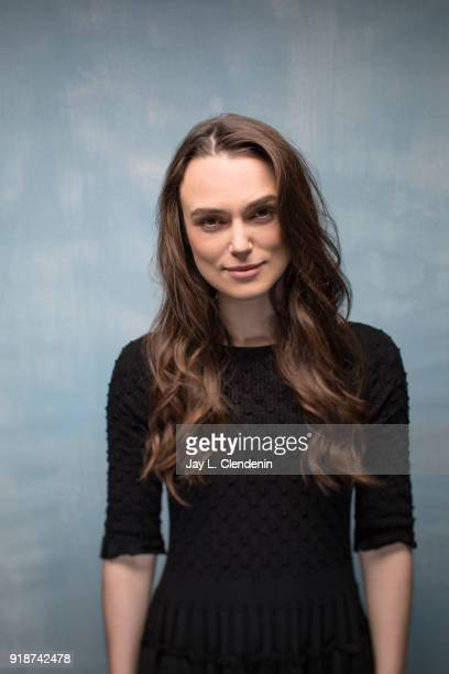 Actress Keira Knightley from the film 'Collette' is photographed for Los Angeles Times on January 21 2018 in the LA Times Studio at Chase Sapphire on...