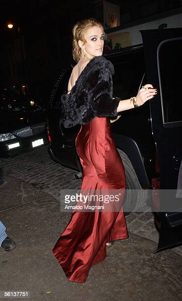 Actress Keira Knightley gets into a car as she leaves her hotel on the way to the Loews Lincoln Square at 68th Street and Broadway for the premiere...