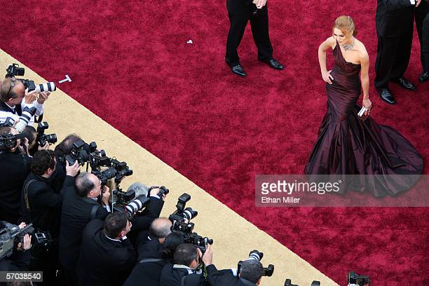 Actress Keira Knightley is photographed as she arrives at the 78th Annual Academy Awards at the Kodak Theatre March 5 2006 in Hollywood California