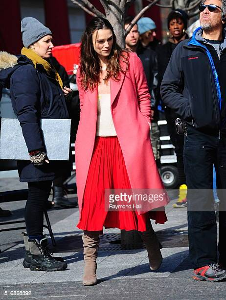 Actress Keira Knightley is seen on the of 'Collateral Beauty'on March 21 2016 in New York City