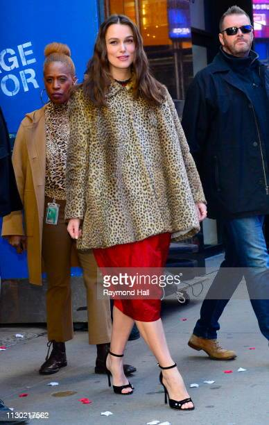 Actress Keira Knightley is seen outside Good Morning America on March 13 2019 in New York City