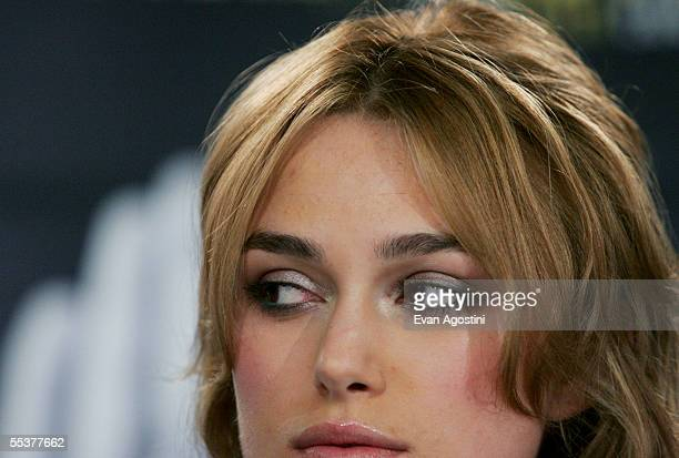 Actress Keira Knightley participates in a press conference for the film Pride Prejudice during the Toronto International Film Festival September 11...