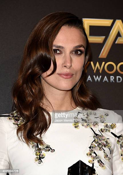 Actress Keira Knightley winner of Hollywood Supporting Actress for 'The Imitation Game' poses in the press room during the 18th Annual Hollywood Film...