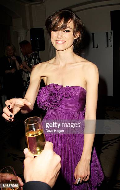 Actress Keira Knightly arrives at the Private VIP Party for the 'Edge of Love', at the Berkley Hotel June 19, 2008 in London, England.