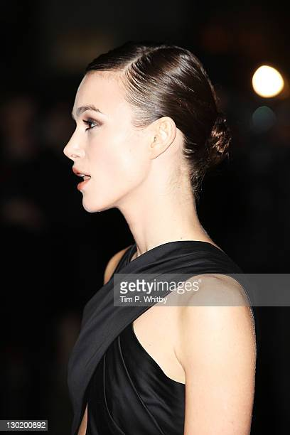 Actress Keira Knightly attends the press Premiere of A Dangerous Method at the 55th BFI London Film Festival at Odeon West End on October 24 2011 in...